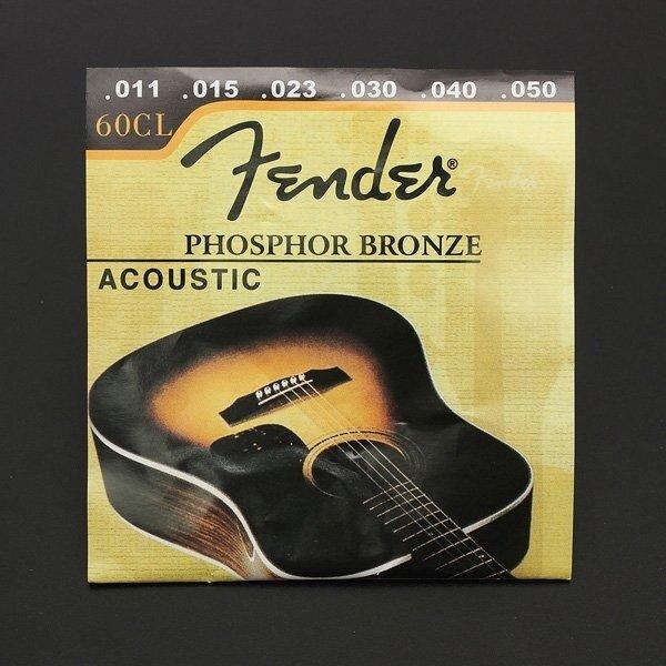 ขาย 1 Set 60CL (.011-.050) Phosphor Bronze Wound Steel Acoustic Guitar Strings light New - intl