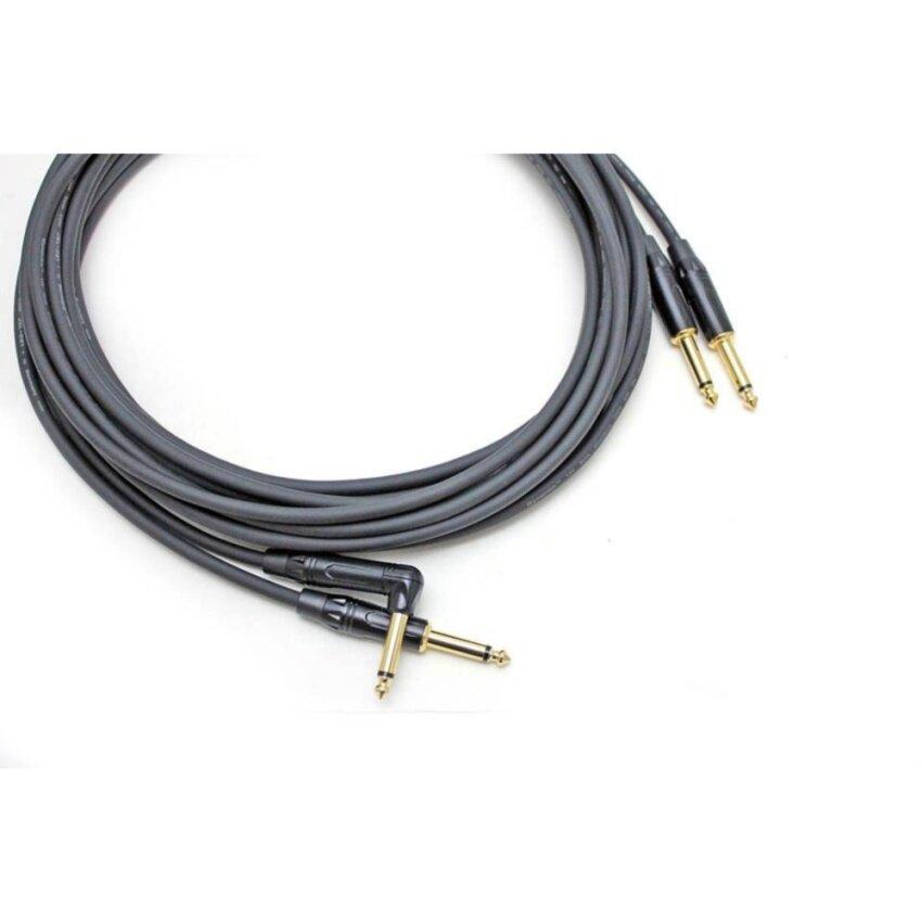 แพ็คคู่ 2 เส้น สายแจ็คกีตาร์และเบส DM-MUSIC CABLE, DM-BG + DYNACOM JSL-021 ความยาว 3 เมตร จำนวน 2 เส้น