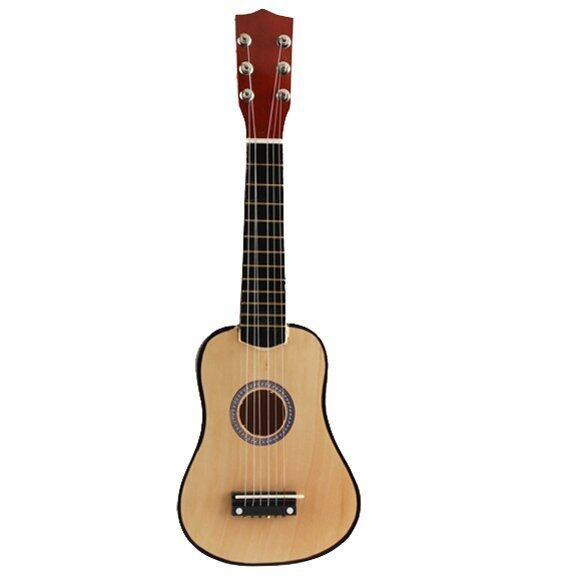 21 Inch 6 String Acoustic Guitar with Pick Beginners Musical Instrument