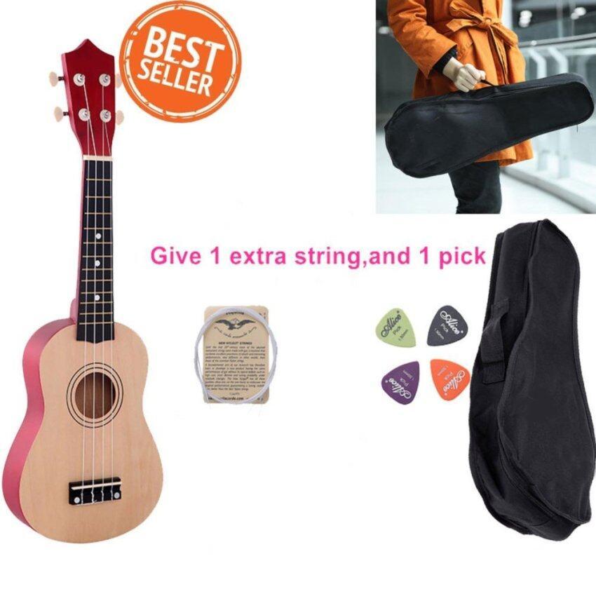21 Inches อูคูเลเล่ กีต้าร์ เครื่องดนตรี Guitars Ukulele With ฟรี String+Pick+Bag