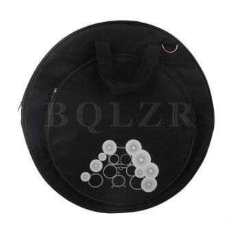 "21.3"""" Diameter 600D Oxford Cloth Dual Pocket Cymbal Bag Black"