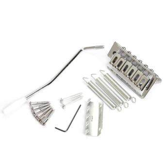 6 Strings Electric Guitar Iron Tremolo Bridge Set for Fender Strat(Silver)