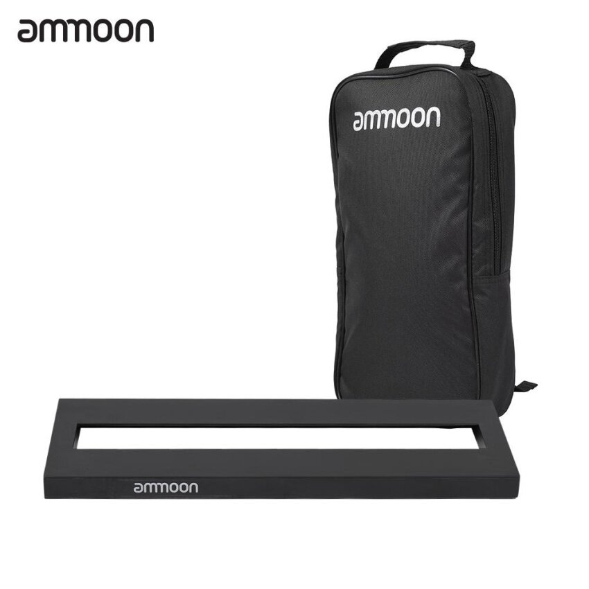 ammoon DB-1 Mini Aluminum Alloy Guitar Pedal Board with Carrying Bag Tapes - intl