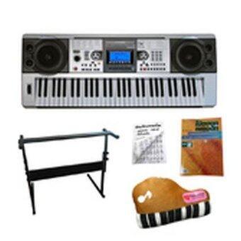 Centrioคีย์บอร์ด61คีย์มาตรฐานExclusive MP3 (จอLCD) +ขาตั้งคีย์บอร์ด+คู่มือตารางคอร์ด+หนังสือโน้ตฮอทเพลงฮิท+หมอนพรีเมี่ยม