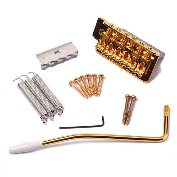 Gold Electric Guitar Tremolo Bridge Single Locking System for Strat ST Style Guitar Replacement
