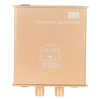 XOX G1 เครื่องดนตรีการ์ดเสียงเข้ากันได้กับอุปกรณ์ต่าง ๆ เช่น กีต้าร์/ร้องเพลง/ฟังผลแป้นอุปกรณ์บันทึกออนไลน์ (image 1)