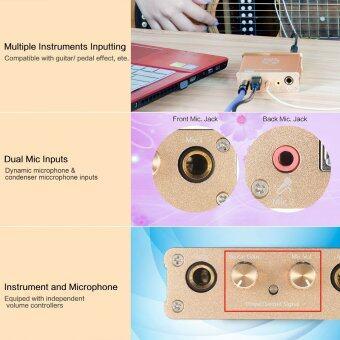 XOX G1 เครื่องดนตรีการ์ดเสียงเข้ากันได้กับอุปกรณ์ต่าง ๆ เช่น กีต้าร์/ร้องเพลง/ฟังผลแป้นอุปกรณ์บันทึกออนไลน์ (image 3)