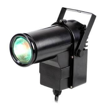 9W full Color Pin RGB LED DJ Effect Light Stage Lighting(Black)(US plug) (Intl)