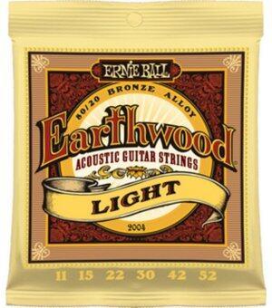 Ernie ball สายกีต้าร์โปร่ง รุ่น ACOUSTIC EARTHWOOD LIGHT ACOUSTIC 80/20 BRONZE ขนาด 11-52