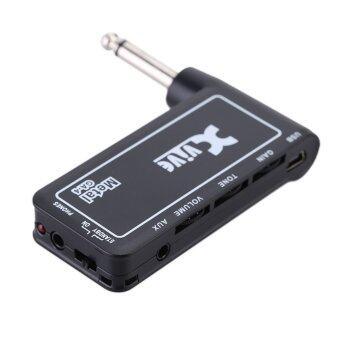 Xvive GA4 กีต้าร์ไฟฟ้าโลหะแบบพกพาที่ชาร์จไฟปลั๊กมินิแอมป์หูฟัง