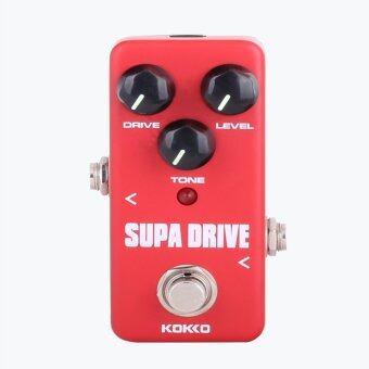 BolehDeals มินิคันบังคับ Supa ขับรถอ้อมจริงสำหรับกีต้าร์ไฟฟ้าสีแดง