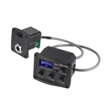 Ukulele Ukelele Uke Piezo Pickup Preamp 3-Band EQ Equalizer Tuner System with LCD Display Outdoorfree - intl