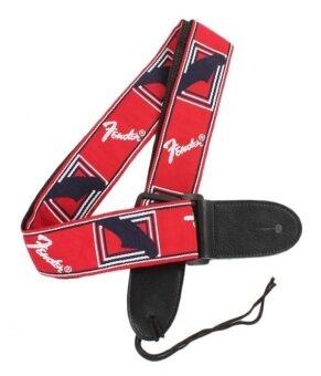 สายสะพายกีตาร์ Fender สีแดง (image 0)
