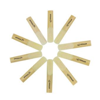 ammoon 10pcs 2.5 2-1/2 Bamboo Reeds Set for Eb Alto Saxophone Sax. >>>>