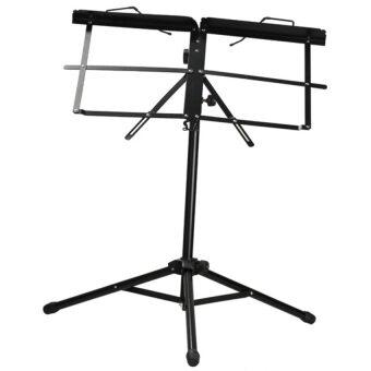 HKS Adjustable Metal Music Sheet Stand Folding Stands for Musicians Black - intl