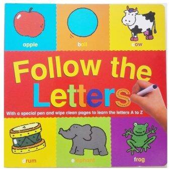 Follow The Letters - Wipe clean Book (หนังสือภาษาอังกฤษ)