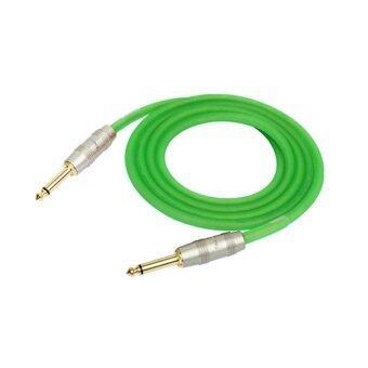 Kirlin Instrument Cable สายแจ็คเรืองแสง (สีเขียว)