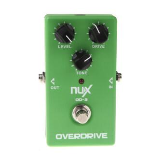 NUX OD-3 กีต้าร์ไฟฟ้ากระตุ้นส่งผลให้ทรูบายพาสเหยียบสีเขียว