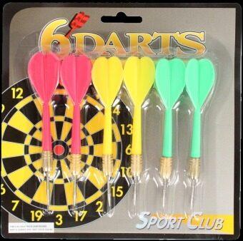 SPORTLAND ลูกดอก ปาเป้า Brass Plated Darts-SPL-AP-503-6x6G - คละสี (6 ลูก)