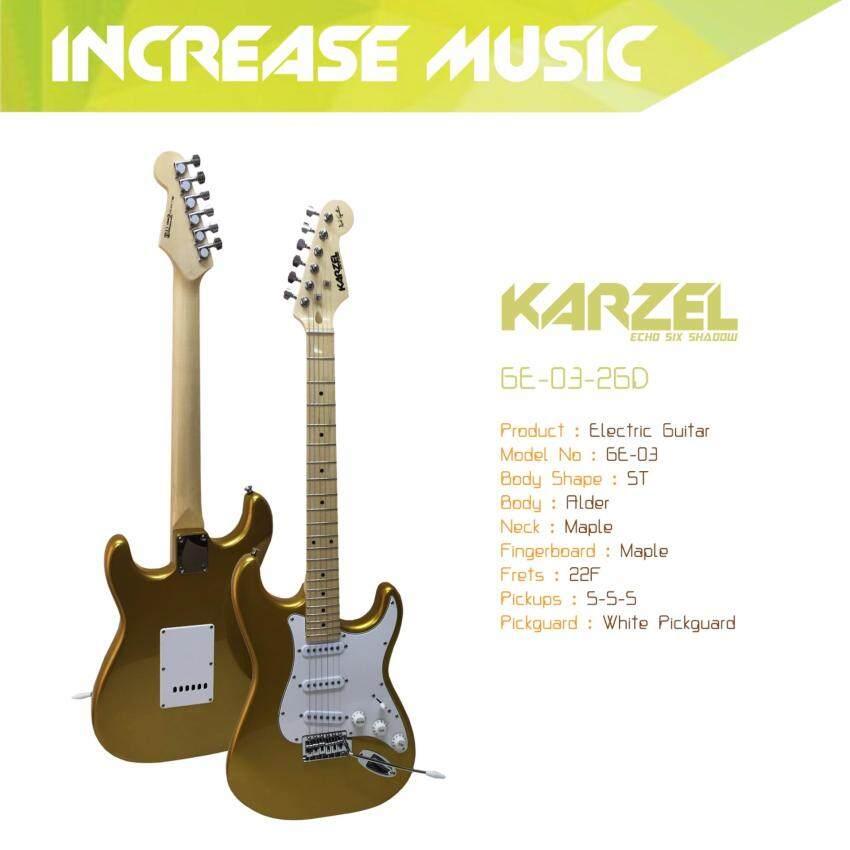 Karzel กีต้าร์ไฟฟ้า ทรง ST สีทอง GE-03