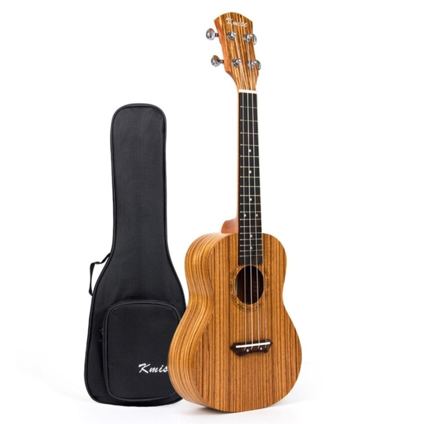 Kmise Professional Concert Ukulele Kit Ukelele Uke Acoustic Hawaii Guitar Zebrawood 23 inch 18 Fret with Bag - intl