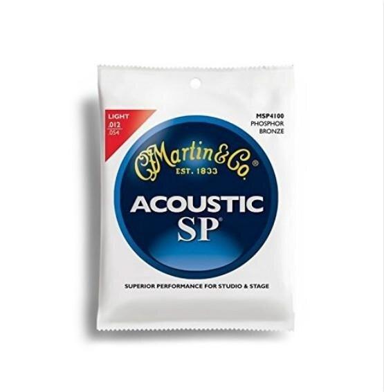 Martin MSP4100 SP Phosphor Bronze Acoustic Guitar Strings, Light - intl