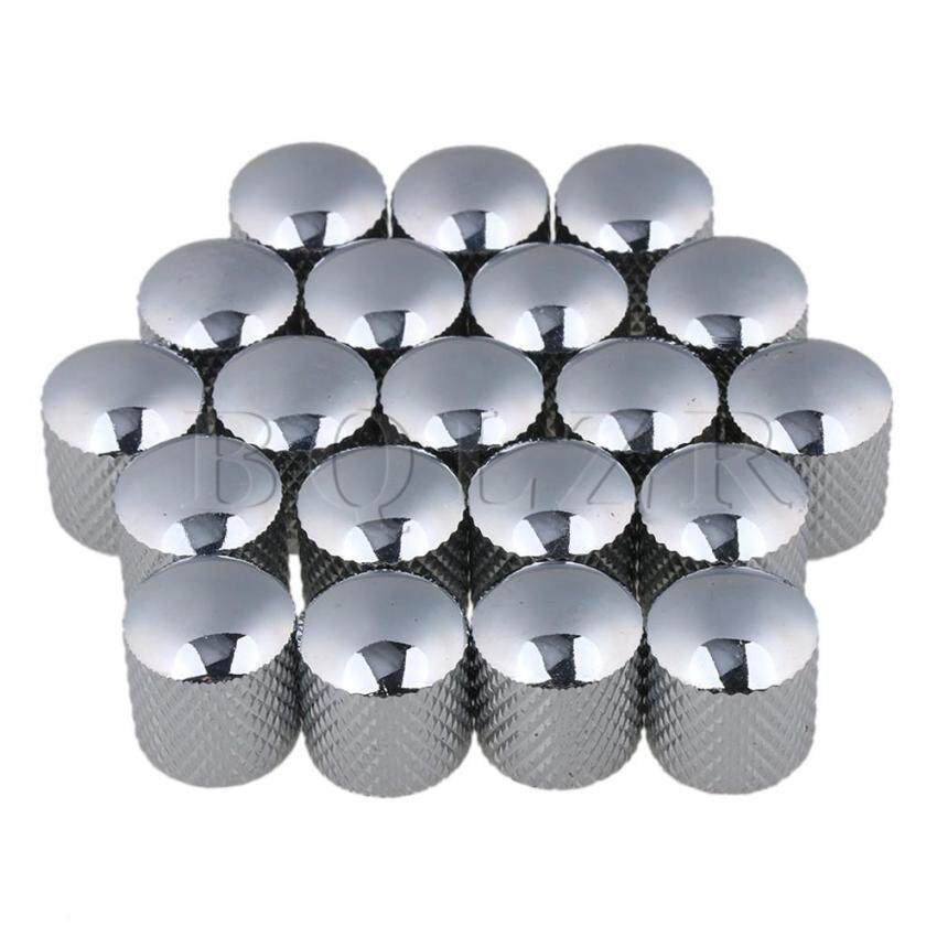 Metal Electric Guitar Volume Tone Knobs Set of 20 Chrome - intl