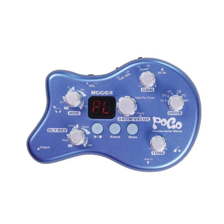 Mooer เครื่องช่วยเสียง Portable Effects Pogo - Blue