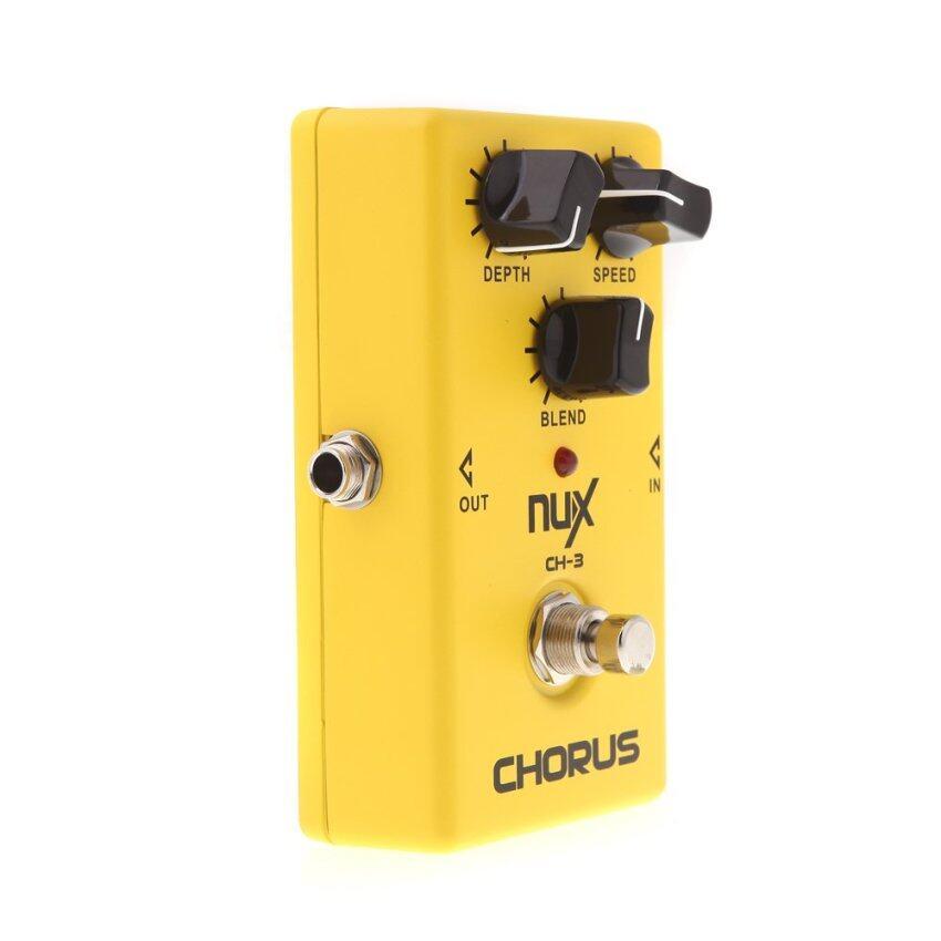 ลดด่วนNux CH-3 เอฟเฟคกีตาร์ไฟฟ้า BBDคุณภาพสูง ทรูบายพาสเหลือง มาซื้อเร็ว