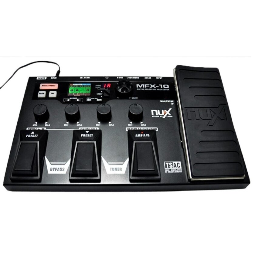 NUX MFX-10 Modeling Guitar Processor Guitar Effect Pedal Drum Recorder 55 Effect 72 Preset Multi-function - intl