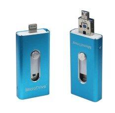 100% 64GB i-Flash Drive Mini Usb Metal Pen Drive For iPhone 5/5s/5c/6/6 Plus/ipad(blue)