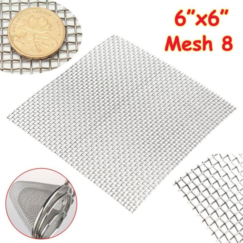 304 Stainless Steel Mesh #8 Wire Cloth Screen 6'x6'(filter grading sheet) - intl ...