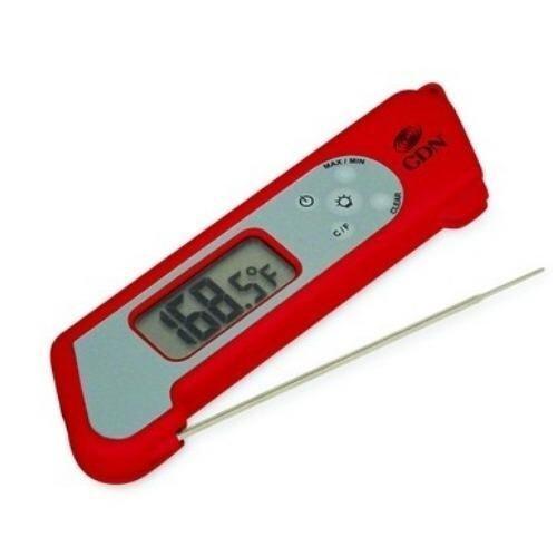 เครื่องวัดอุณหภูมิ CDN-USA TCT572-R Folding Thermocouple Thermometer-Red