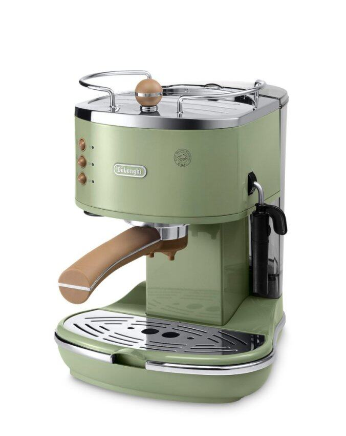 De'Longhi เครื่องชงกาแฟ Icona Vintage รุ่น ECOV311.GR สีเขียว