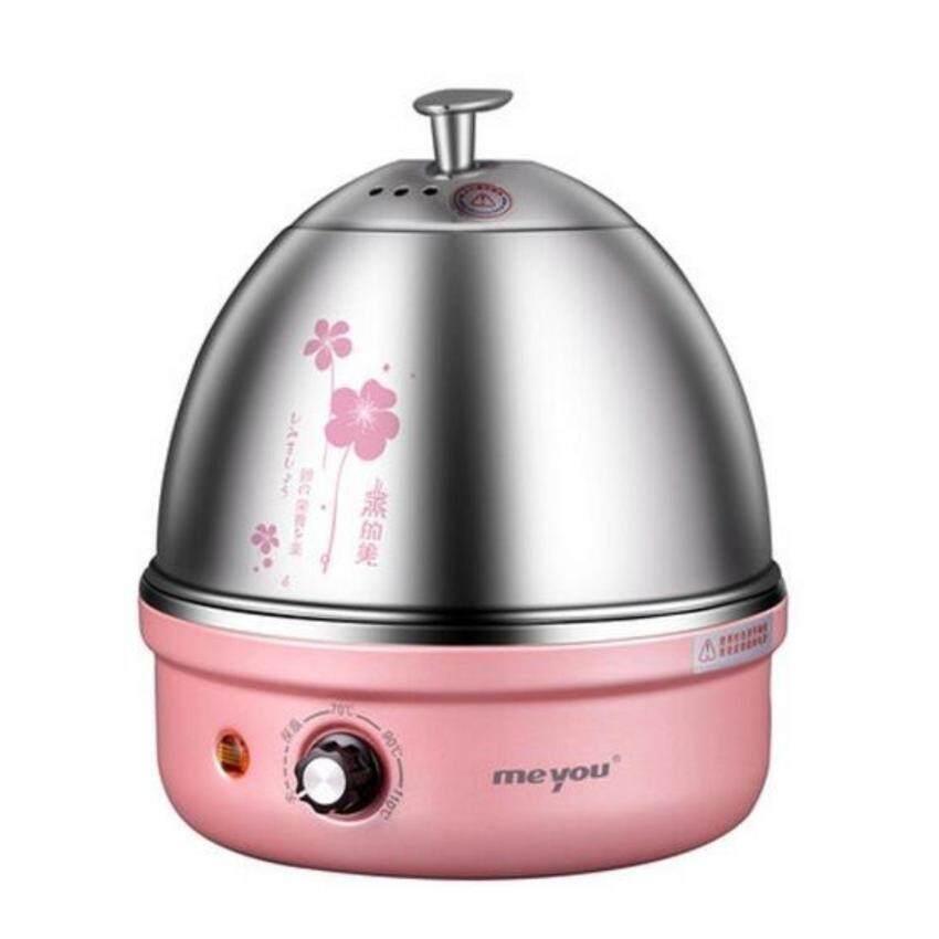 DJSHOP เครื่องต้มไข่ หม้อนึ่งอเนกประสงค์ สแตนเลส รุ่น MY-35A (สีชมพู)(Pink) ...