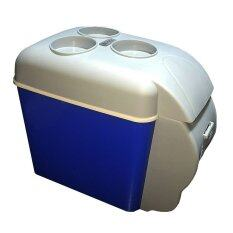 Eaze ตู้เย็นอเนกประสงค์แบบพกพา รุ่น 7.5 ลิตร (สีเทา/น้ำเงิน)