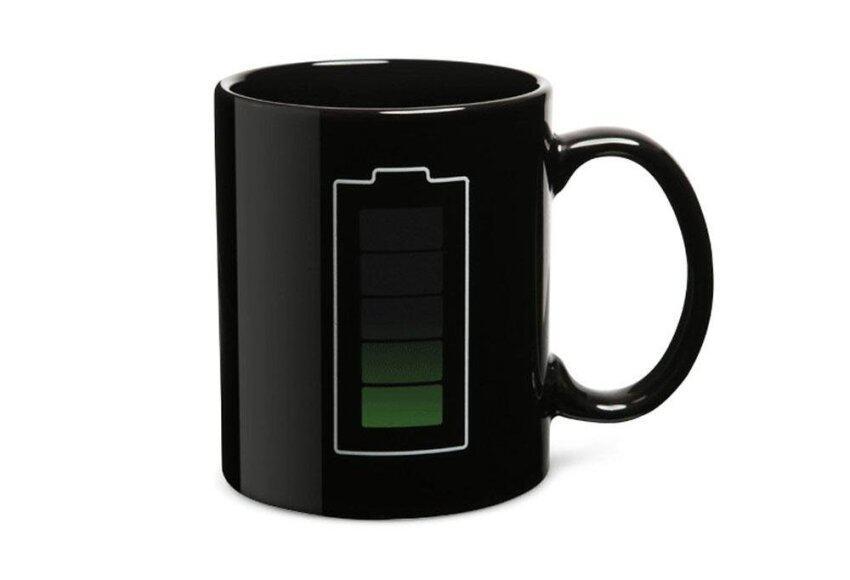 foorvof Battery Color Thermometer Heat Changing Mug Cup Glass,Black - intl