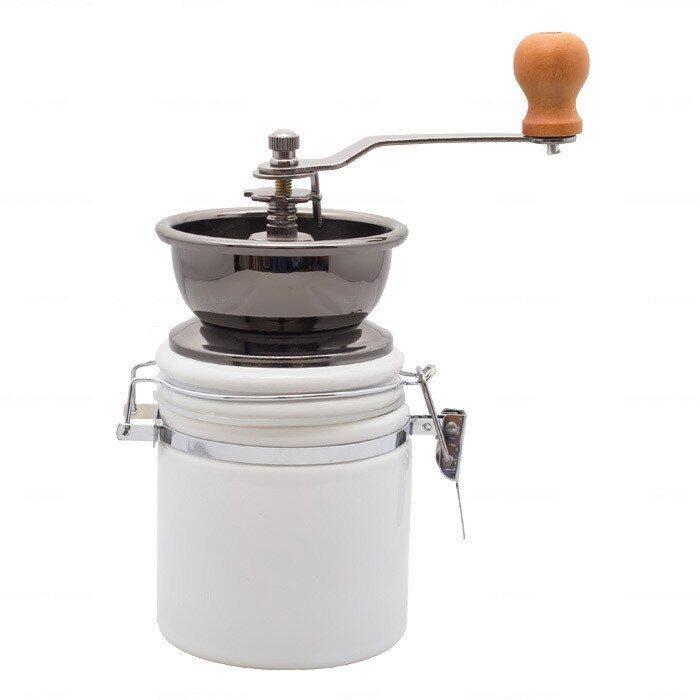 GetZhop เครื่องบดกาแฟ Coffee grinder Seramic (White)