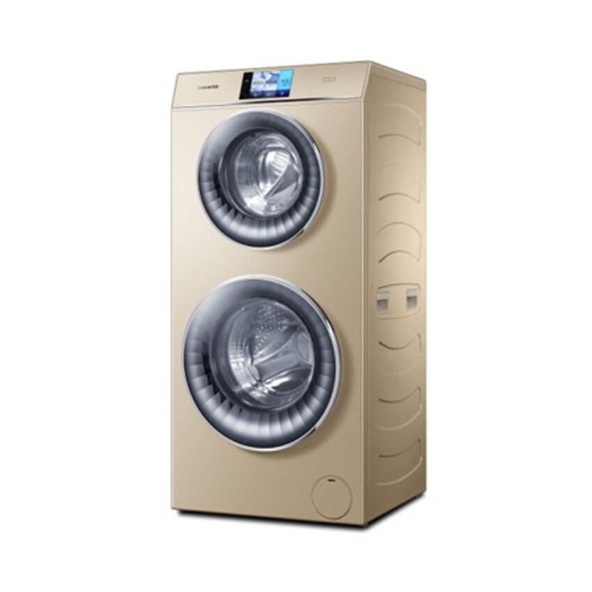 Haier เครื่องซักผ้าฝาหน้าแบบซักพร้อมกัน 2 ถัง Inverter ความจุ 8 กก. + 4 กก.รุ่น HW120-B1558