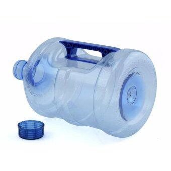 Wpower ถังน้ำดื่ม ขนาด 10ลิตร รุ่น ถังน้ำโพลีคาร์บอเนต กลมใส พร้อมด้ามจับมือถือ แพ็คคู่ สีน้ำเงิน (image 3)