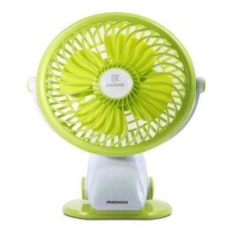 REMAX MINI FAN พัดลมตั้งโต๊ะ RM-F2 CLAMP(สีเขียว)