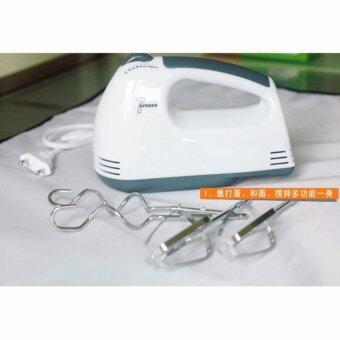 iremax เครื่องผสมอาหาร เครื่องตีไข่ไฟฟ้า Electric 7 Speed Egg Beater Flour Mixer Mini Electric Hand Held Mixer (White) แถมฟรี ไม้พายซิลิโคน(price:199-) (image 3)