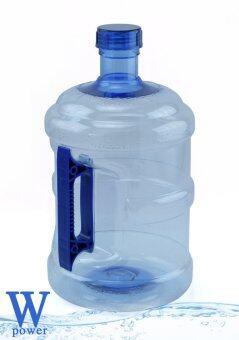 Wpower ถังน้ำดื่ม ขนาด 10ลิตร รุ่น ถังน้ำโพลีคาร์บอเนต กลมใส พร้อมด้ามจับมือถือ สีน้ำเงิน