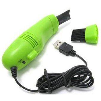 BEST TMALL เครื่องดูดฝุ่นจิ๋วต่อ USB ทำความสะอาดคีย์บอร์ด - Green