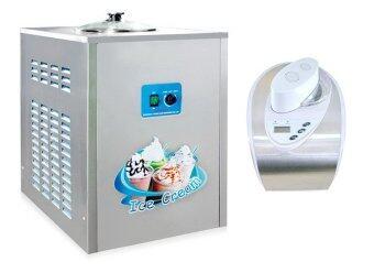 Quigg เครื่องทำไอศครีมมีคอมเพรสเซอร์ในตัว 1.5 ลิตร - Stainless + Bingzhele เครื่องทำไอศกรีม ขนาด 6 ลิตร รุ่น BQL-12Y