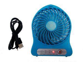 Twosister Portable Lithium Battery FAN พัดลมจิ๋วพลังเทอร์โบ พกพาสะดวก ชาร์จไฟได้ - Blue