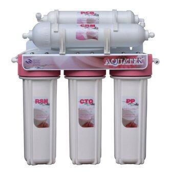 Aquatek เครื่องกรองน้ำ 5 ขั้นตอน รุ่น Pink Ceramic - White