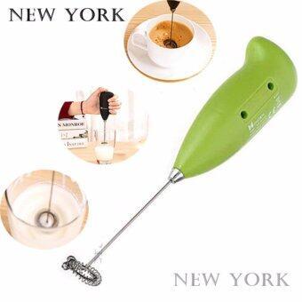 NEW YORK BIG SALE เครื่องตีฟองนมกาแฟ เครื่องตีไข่ No.005 - Green