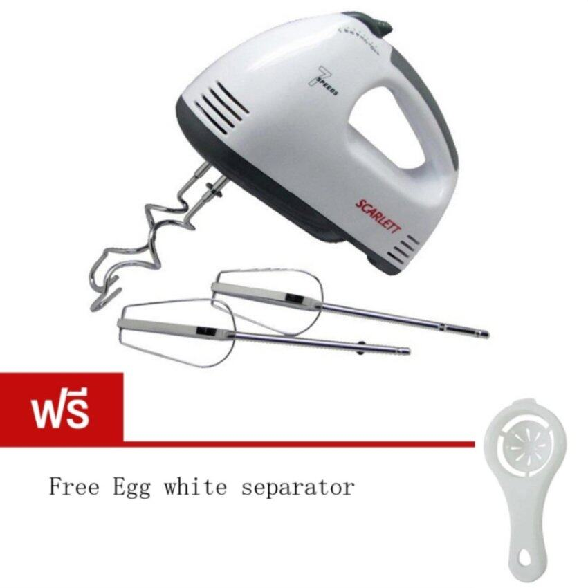 iremax Electric 7 Speed Egg Beater Flour Mixer Mini Electric Hand Held Mixer (White) Fre ...