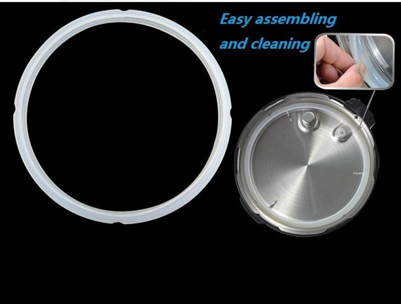 Jiayiqi 2PC Rubber Gaskets Silicone Sealing Rings For Electric Pressure Cookers Kitchen  ...